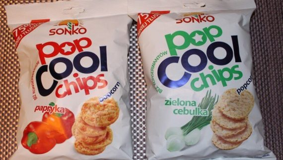 """Sonko Pop Cool Chips Zielona Cebulka, 60g"" i ""Sonko Pop Cool Chips Papryka, 60g"" (Healthy Food Production S.A.)"