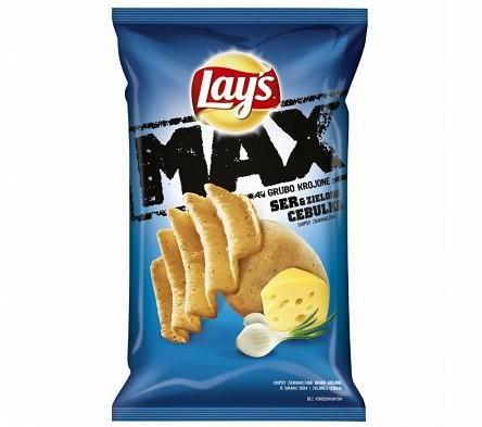 """""""Lays MAX Ser & Zielona Cebulka"""", 140g (Frito-Lay)"""